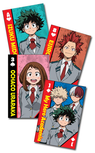 My Hero Academia - School Uniforms Group Playing Cards, an officially licensed product in our My Hero Academia Playing Cards department.