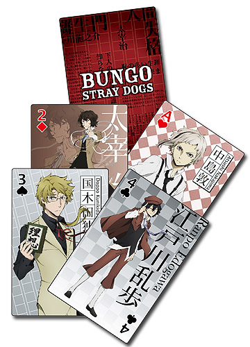Bungo Stray Dogs - Group Playing Cards, an officially licensed Bungo Stray Dogs product at B.A. Toys.