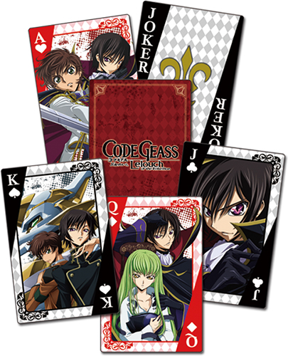 Code Geass - Group Playing Cards, an officially licensed product in our Code Geass Playing Cards department.