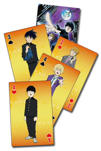 Mob Psycho 100 - Group Playing Cards, an officially licensed product in our Mob Psycho 100 Playing Cards department.