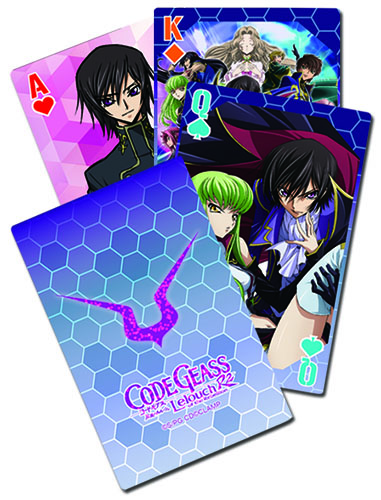 Code Geass - Big Group Playing Cards, an officially licensed product in our Code Geass Playing Cards department.