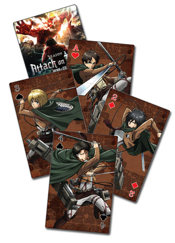 Attack On Titan S2 - Group Playing Cards, an officially licensed product in our Attack On Titan Playing Cards department.