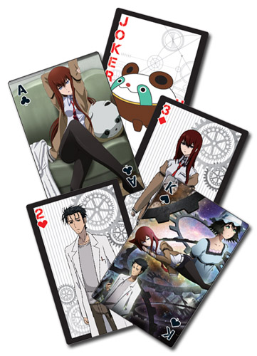 Stein;S Gate - Artwork Picture Playing Cards officially licensed Stein;S Gate Playing Cards product at B.A. Toys.