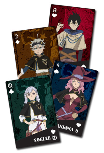 Black Clover - Group Playing Cards, an officially licensed Black Clover product at B.A. Toys.