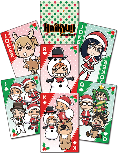 Haikyu!! - Christmas Sd Group Playing Cards officially licensed Haikyu!! Playing Cards product at B.A. Toys.