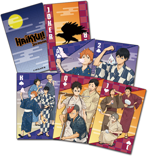 Haikyu!! - Yukata Group Playing Cards, an officially licensed product in our Haikyu!! Playing Cards department.