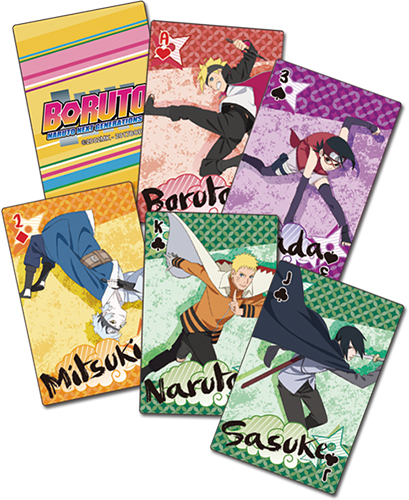 Boruto - Big Grop Playing Cards, an officially licensed Boruto product at B.A. Toys.