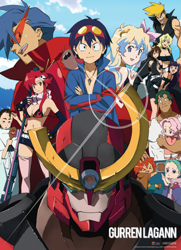 Gurren Lagann Group Wall Scroll, an officially licensed product in our Gurren Lagann Wall Scroll Posters department.