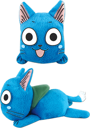 Fairy Tail - Happy Lie Prone Posture Plush 4'', an officially licensed product in our Fairy Tail Plush department.