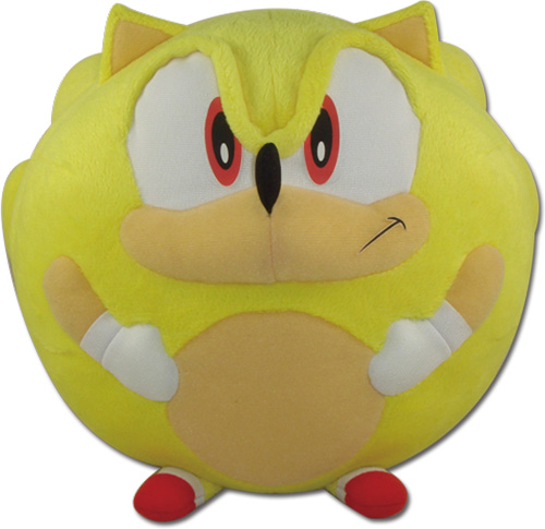 Sonic The Hedgehog - Super Sonic Ball Plush 8