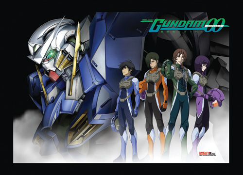 Gundam 00 Exia & Pilots Wall Scroll, an officially licensed product in our Gundam 00 Wall Scroll Posters department.