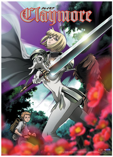 Claymore Clare In The Forest Wall Scroll officially licensed product at B.A. Toys.