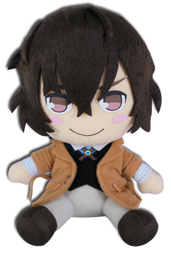 Bungo Stray Dogs - Osamu Sitting Plush 7, an officially licensed Bungo Stray Dogs product at B.A. Toys.