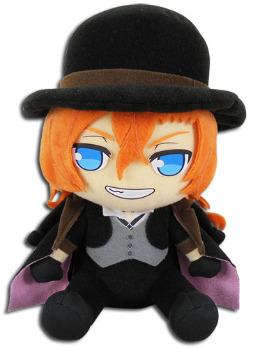 Bungo Stray Dogs - Chuya Sitting Plush 7, an officially licensed Bungo Stray Dogs product at B.A. Toys.