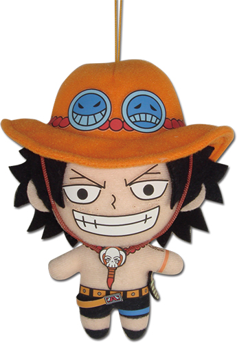 One Piece - Ace 5'' Plush officially licensed One Piece Plush product at B.A. Toys.