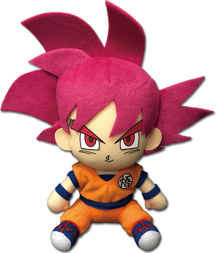Dragon Ball Super - Ssgss Goku Sitting Pose Plush 7
