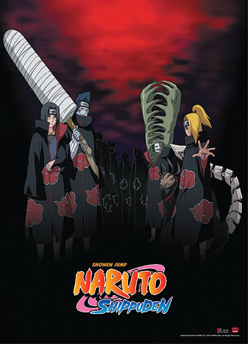 Naruto Shippuden Akatsuki Wall Scroll, an officially licensed product in our Naruto Shippuden Wall Scroll Posters department.