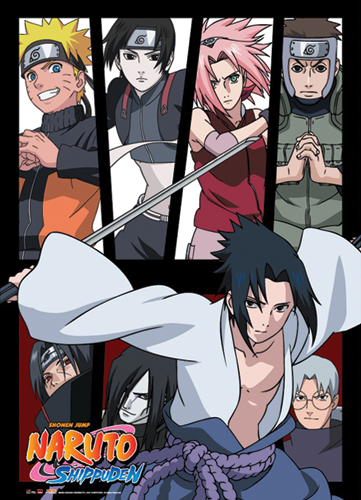 Naruto Shippuden Group Wall Scroll, an officially licensed product in our Naruto Shippuden Wall Scroll Posters department.