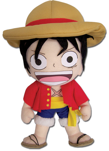 One Piece - Luffy Plush 8'' officially licensed One Piece Plush product at B.A. Toys.