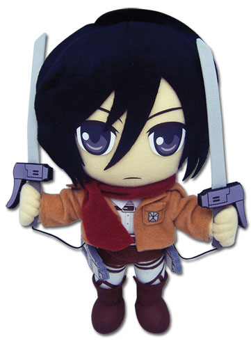 Attack On Titan - Mikasa Plush, an officially licensed Attack On Titan product at B.A. Toys.