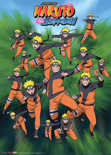 Naruto Shippuden Naruto Shadow Clone Wall Scroll, an officially licensed product in our Naruto Shippuden Wall Scroll Posters department.