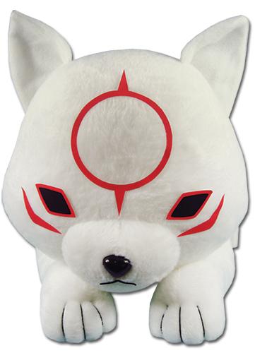 Okami-den - Chibiterasu Lying Plush 20'' officially licensed Okamiden Plush product at B.A. Toys.