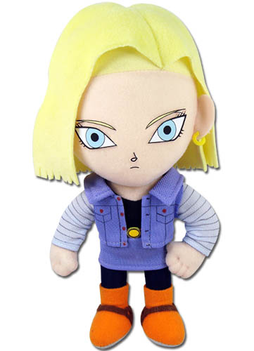 Dragon Ball Z - Android #18 Plush 8'' officially licensed Dragon Ball Z Plush product at B.A. Toys.