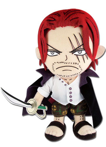 One Piece - Shanks Plush 8'' officially licensed One Piece Plush product at B.A. Toys.