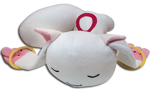 Madoka Magica - Kyubey Sleeping Plush officially licensed Madoka Magica Plush product at B.A. Toys.