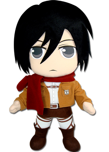 Attack On Titan - Mikasa Plush 18'' officially licensed Attack On Titan Plush product at B.A. Toys.