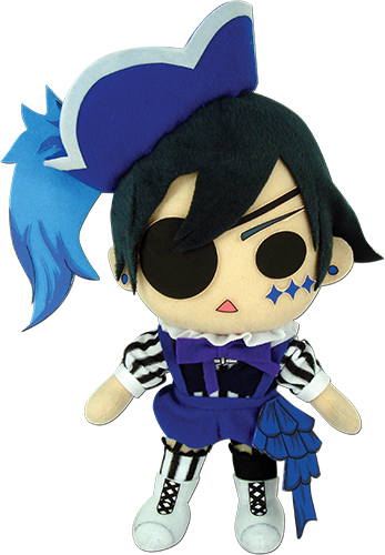 Black Butler Boc - Ciel Phantomhive Plush 8H, an officially licensed Black Butler Book Of Circus product at B.A. Toys.