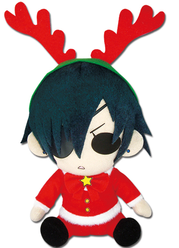 Black Butler - Ciel Phantomhive Christmas Dress Plush 6'' officially licensed Black Butler Plush product at B.A. Toys.