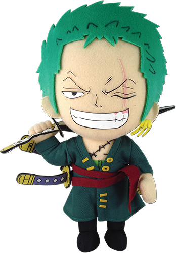 One Piece - Zoro Plush 8'', an officially licensed product in our One Piece Plush department.