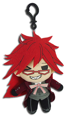 Black Butler - Grell Sublimation Plush 3'' officially licensed Black Butler Plush product at B.A. Toys.