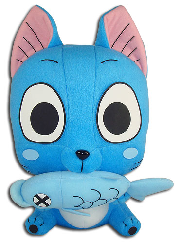 Fairy Tail - Happy Eating Fish Plush 10'', an officially licensed product in our Fairy Tail Plush department.