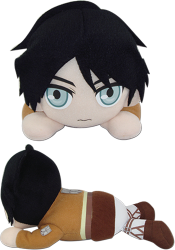 Attack On Titan - Eren Lying Posture Plush 8, an officially licensed Attack On Titan product at B.A. Toys.