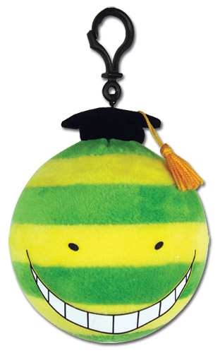 Assassination Classroom - Koro Green Stripe Plush 4'', an officially licensed Assassination Classroom product at B.A. Toys.