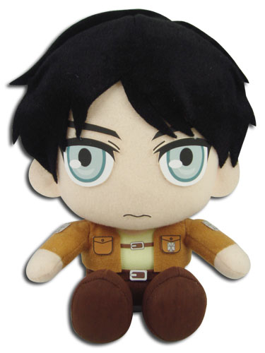 Attack On Titan - Eren Sitting Pose Plush, an officially licensed Attack On Titan product at B.A. Toys.