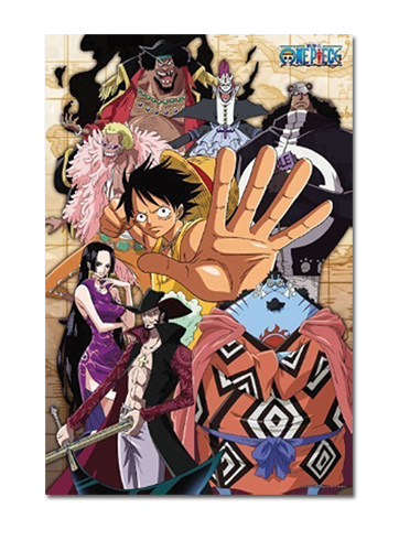 One Piece - Glow-in-the-dark Luffy & Shichibukai 1000pcs Puzzle officially licensed One Piece Puzzles product at B.A. Toys.