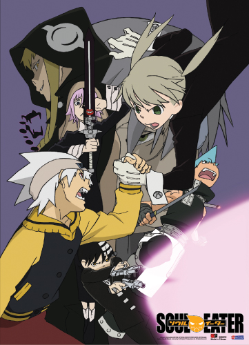 Soul Eater Group Wall Scroll, an officially licensed product in our Soul Eater Wall Scroll Posters department.