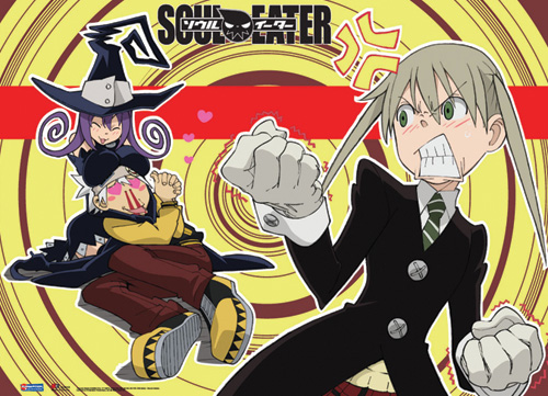 Soul Eater Maka Soul & Blair Wall Scroll, an officially licensed product in our Soul Eater Wall Scroll Posters department.