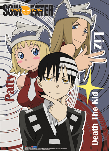 Soul Eater Death The Kid Liz And Patti Wall Scroll, an officially licensed product in our Soul Eater Wall Scroll Posters department.