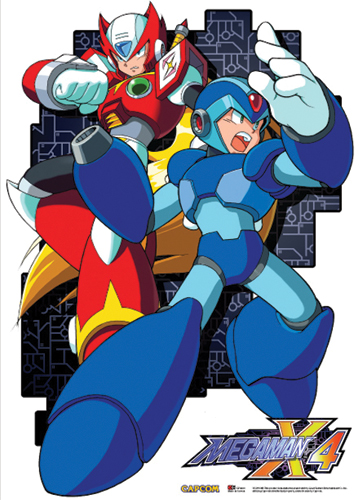 Megaman X4- Mega Man And Zero Wallscroll, an officially licensed product in our Mega Man Wall Scroll Posters department.