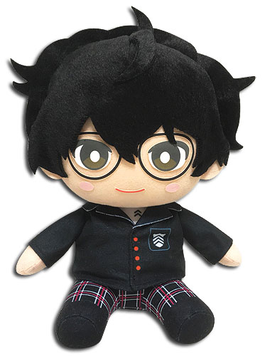 Persona 5 - Protagonist Sitting Plush 5'', an officially licensed product in our Persona Plush department.