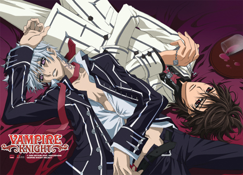 Product Name  Vampire Knight Zero And Kaname Wall Scroll Officially    Zero And Kaname Vampire Knight