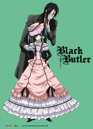 Black Butler Sebastian & Ciel Wall Scroll officially licensed product at B.A. Toys.
