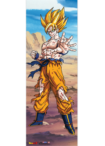 Dragon Ball Z Goku Oversize Wall Scroll, an officially licensed product in our Dragon Ball Z Wall Scroll Posters department.