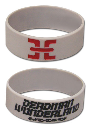 Deadman Wonderland Prison Symbol Pvc Wristband officially licensed Deadman Wonderland Wristbands product at B.A. Toys.