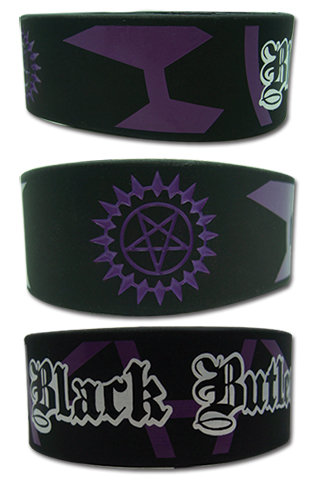 Black Butler Sebastian Seal Pvc Wristband, an officially licensed product in our Black Butler Wristbands department.