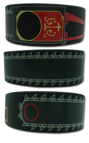 Black Butler Grell'S Chainsaw Pvc Wristband officially licensed Black Butler Wristbands product at B.A. Toys.
